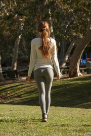 sporty girls gray leggings