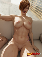 Two very ripped girls pose with sexy naked bodies in - Picture 8