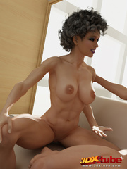 Two very ripped girls pose with sexy naked bodies in - Picture 9