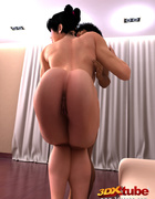 Horny muscular girl rides a hung dick on the floor.