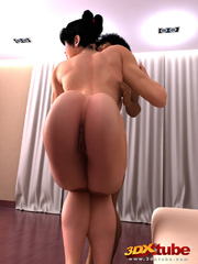 Horny muscular girl rides a hung dick on the floor. - Picture 5