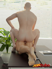 Purple-haired girl gets her pussy fucked on office - Picture 9