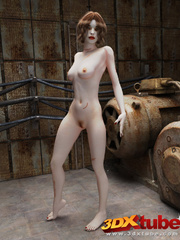 Sexy battle chick gets naked and teases her slim - Picture 4