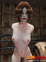 Sexy battle chick gets naked and teases her slim - Picture 8