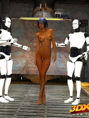 Sexy sluts with nice bodies get aroused by robots and - Picture 1