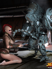 Sexy sluts with nice bodies get aroused by robots and - Picture 6