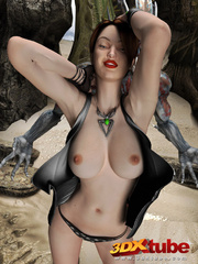 Attractive babes get their pussies stuffed by aliens - Picture 5