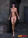 Slender, tattooed tarts take sexy to another level when showing off their