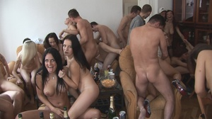 Nasty naked sluts drinking tons of hot cum willingly after lots of booze at the party - XXXonXXX - Pic 10