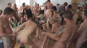 Nasty naked sluts drinking tons of hot cum willingly after lots of booze at the party - XXXonXXX - Pic 13