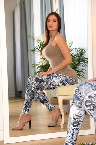 busty girl tight leggings