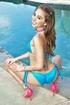 hot models blue bikini