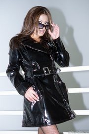 dominatrix black lingerie and