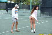 sexy tennis player sheds