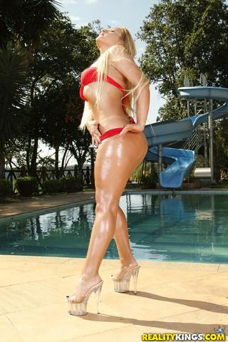 high heeled blonde red