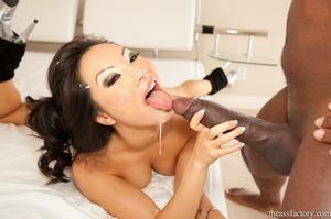 Magnetic brunette wearing a black swimsu - XXX Dessert - Picture 20