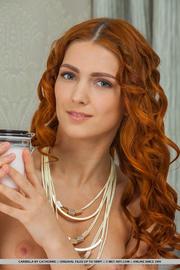 curly hair nude redhead