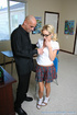 Bald teacher pleasures his blonde, nerdy student's huge tits and fucked
