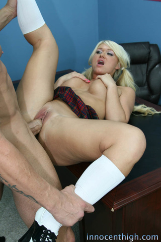 busty blonde school girl