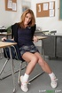 Brunette with pink pussy enjoys fuck on desk from her professor
