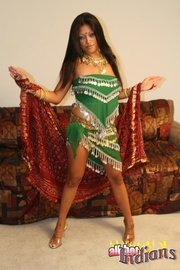 hot indian babe green