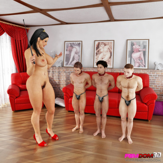 imposing giantess red heels