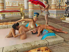 Pharoah queen gets caressed and pleasured by her - Picture 3