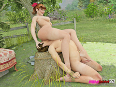 Redheaded farm girl forces the farmer to lick her - Picture 6