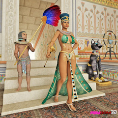 Exotic pharaoh queen gets her ass and pussy licked in - Picture 1