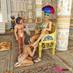 Exotic pharaoh queen gets her ass and pussy licked in - Picture 2