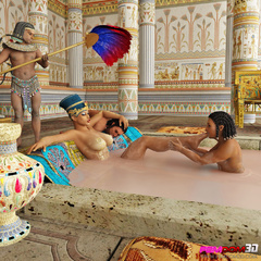Exotic pharaoh queen gets her ass and pussy licked in - Picture 3