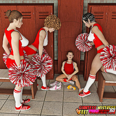 Pervert gets caught by three horny cheerleaders in - Picture 2