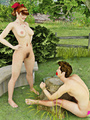 Sexy country babe gets her hairy pussy - Picture 3