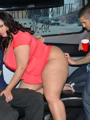 Beautiful plus size babe peels off her red dress then - Picture 8
