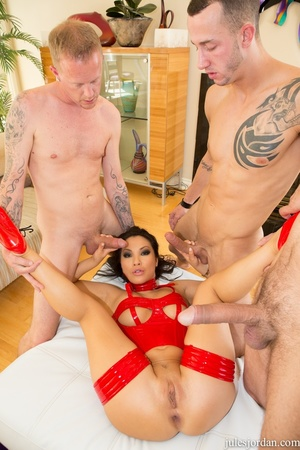 Dirty asian slut in red gets drilled by  - XXX Dessert - Picture 10