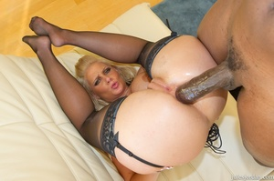 Busty blonde babe leans on the wall for  - XXX Dessert - Picture 16