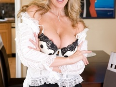 Horny blonde mature leans on a chair and gets - XXXonXXX - Pic 1