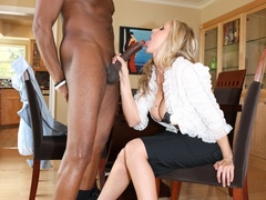 Horny blonde mature leans on a chair and gets - XXXonXXX - Pic 7