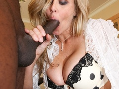 Horny blonde mature leans on a chair and gets - XXXonXXX - Pic 9
