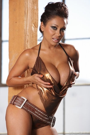 Exotic beauty with big tits oiled and fucked hard to orgasm - XXXonXXX - Pic 1