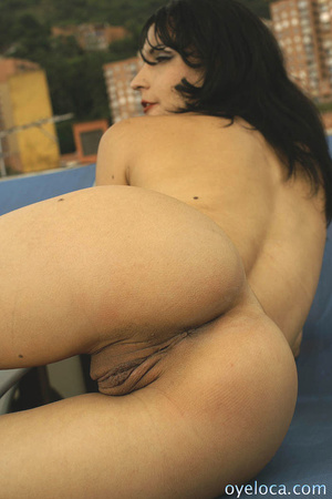 Black haired babe in sunglasses and leat - XXX Dessert - Picture 2