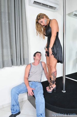 Black dress blowing and fucking