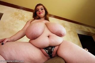 enormous redhead strips white