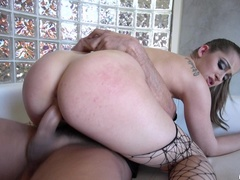 Perky and petite brunette gets her hair pussy - XXXonXXX - Pic 9