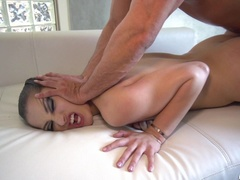 Perky and petite brunette gets her hair pussy - XXXonXXX - Pic 19