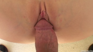 Slut in red spreads her wet pussy for a thick shaft. - XXXonXXX - Pic 16