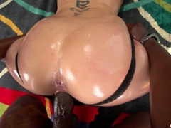 Big breasted slut gets oiled and ready for - XXXonXXX - Pic 10