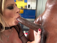 Big breasted slut gets oiled and ready for - XXXonXXX - Pic 13