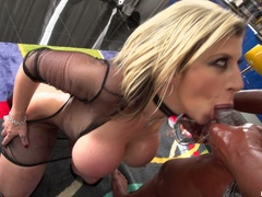 Big breasted slut gets oiled and ready for - XXXonXXX - Pic 14