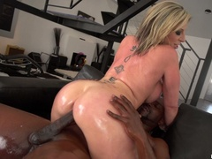 Big breasted slut gets oiled and ready for - XXXonXXX - Pic 18